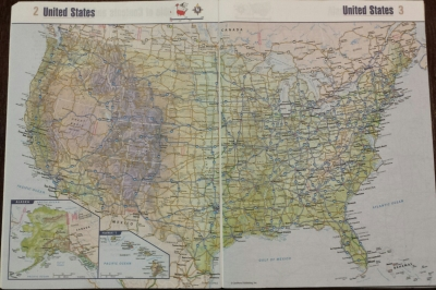 This is the actual Atlas we used. Who am I kidding? We used GPS. But this was totally our back up.