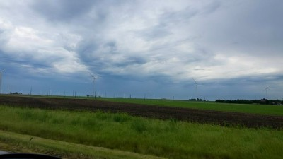 Wind farm off of I-65 in Indiana