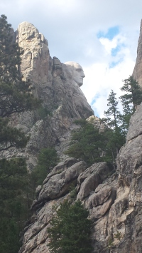 Washington's head as we drive past on our way to Crazy Horse Memorial