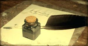image of a quill and inkwell